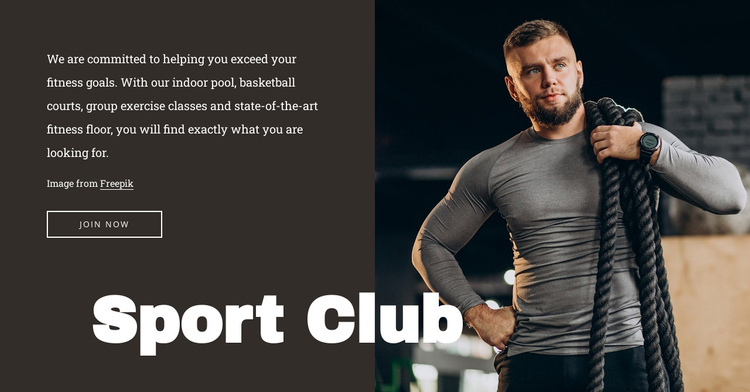 Gym with a pool Website Builder Software