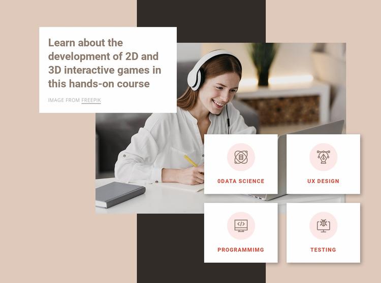 3D modeling courses Website Mockup