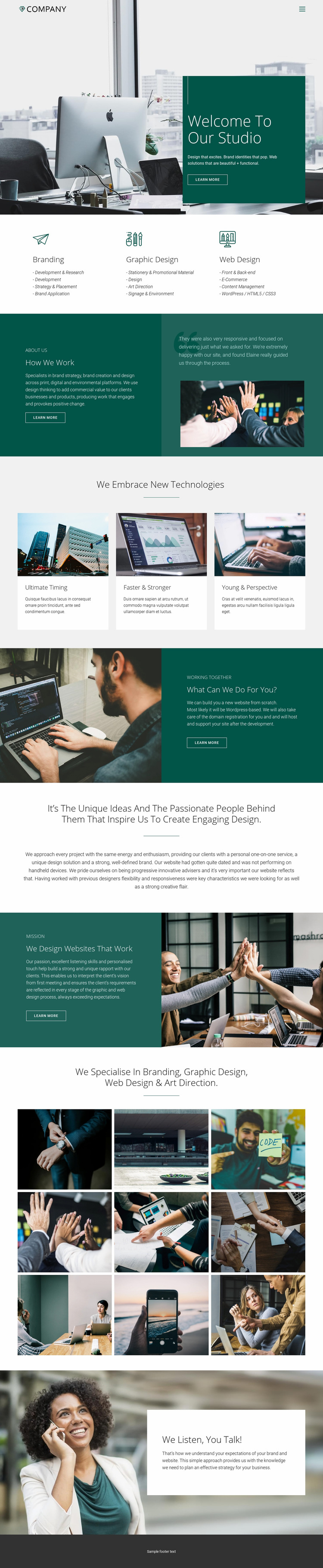 Trusty relations in business Web Page Design