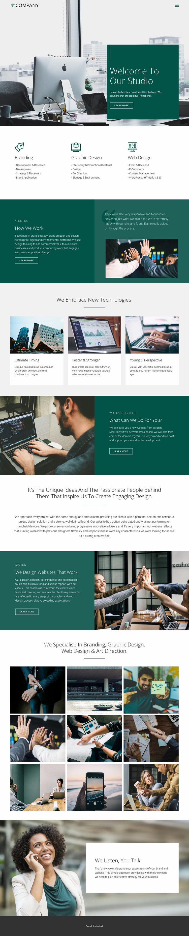 Trusty relations in business Website Mockup