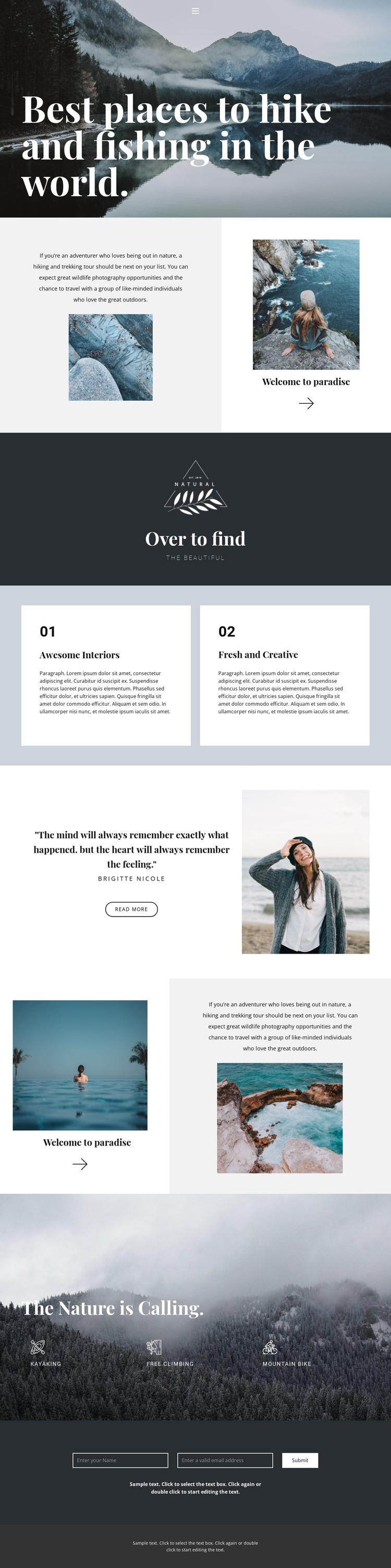 The best places to travel CSS Template