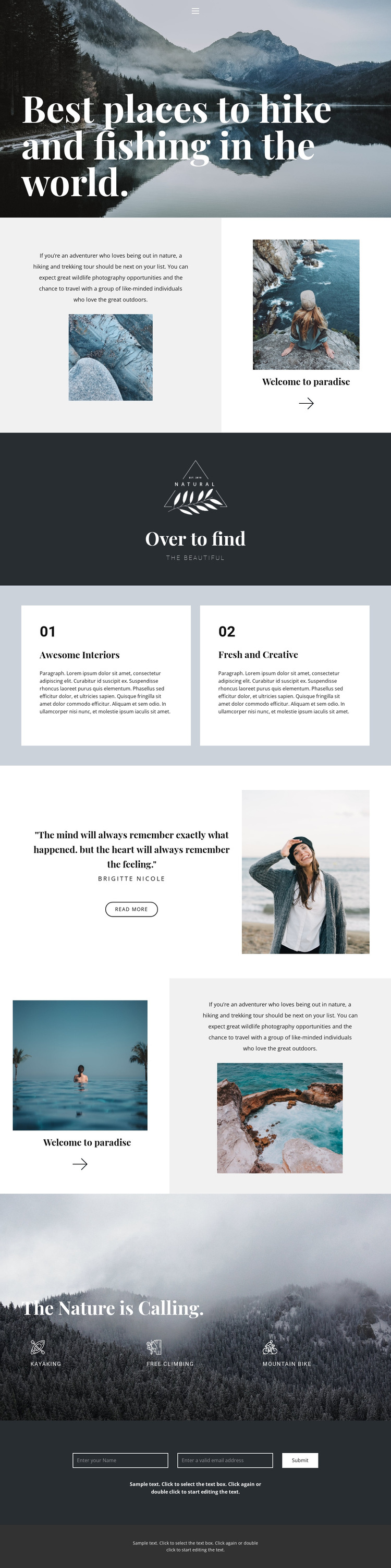 The best places to travel HTML5 Template
