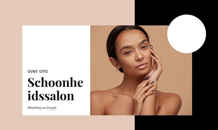 Professionele huidverzorging Website sjabloon