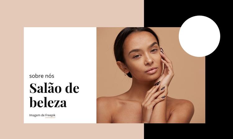 Cuidados profissionais da pele Modelo de site