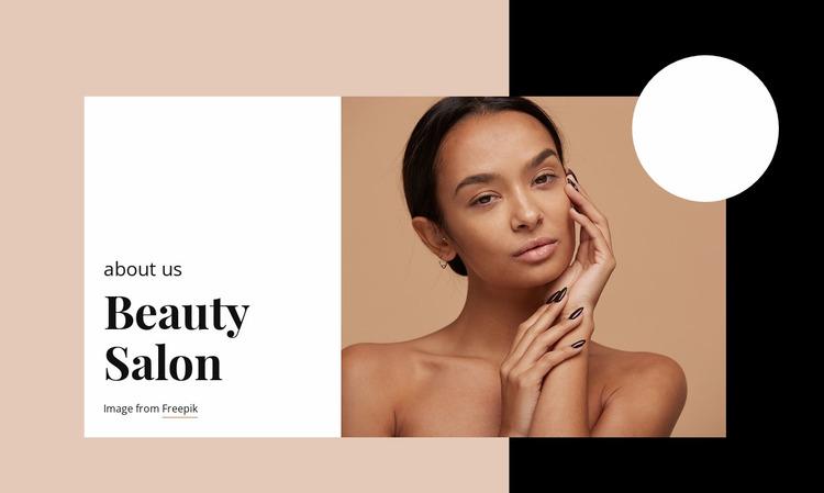 Professional skin care Website Mockup