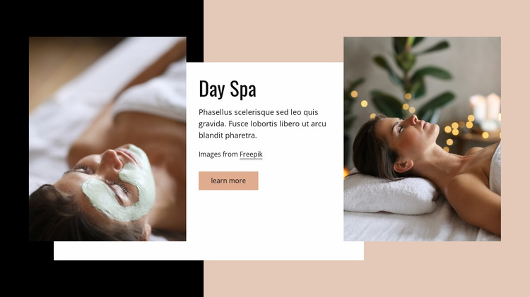 Day spa Website Template