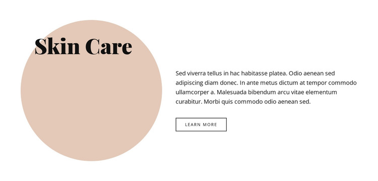 Text with circle ahape HTML Template