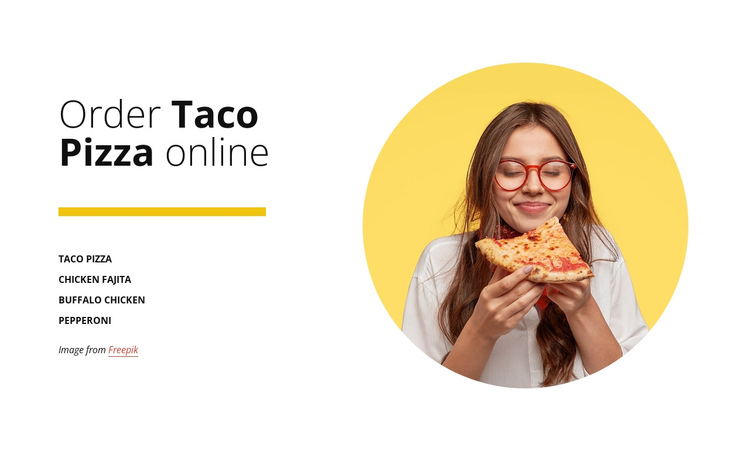 Order pizza online One Page Template