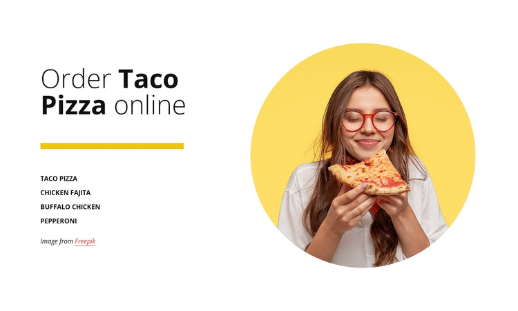 Order pizza online Template