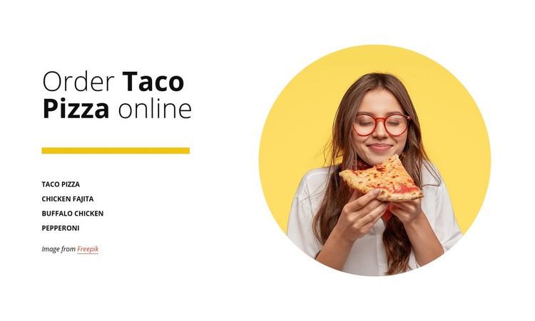 Order pizza online Web Page Design