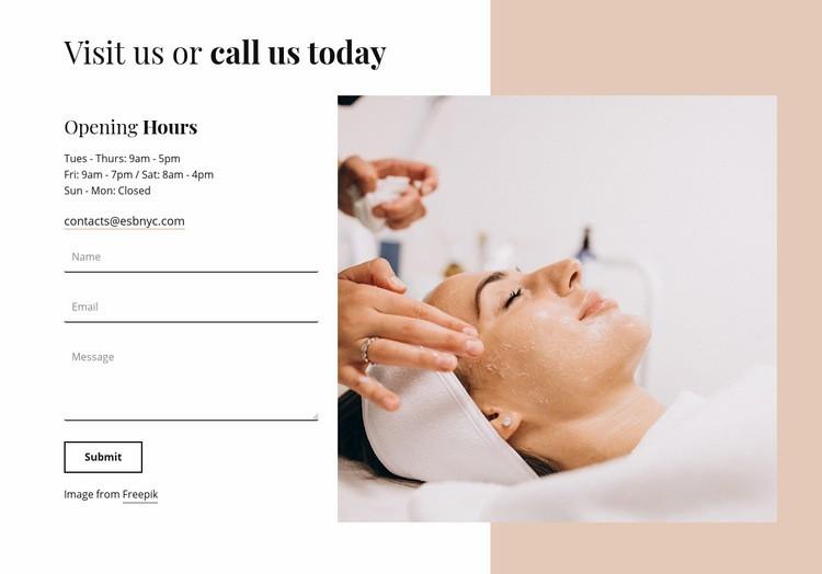 Visit us today Homepage Design