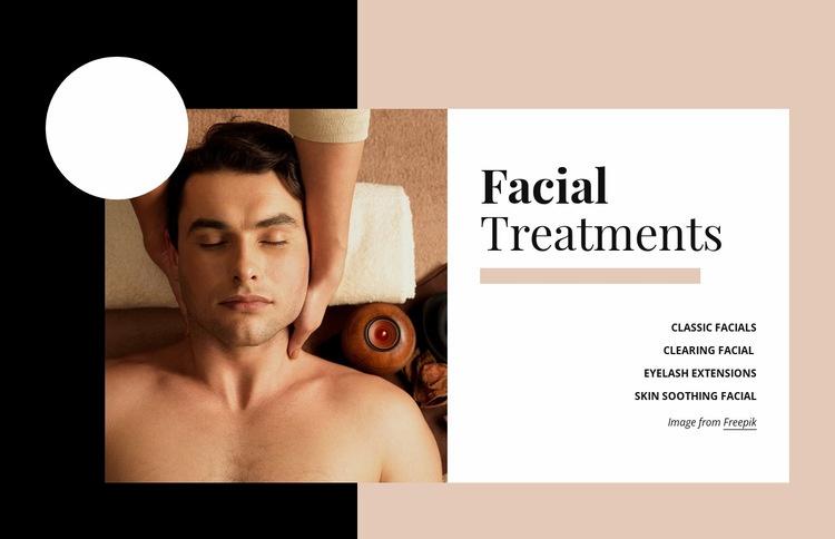 Skin Treatments Web Page Design
