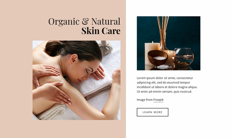 Organic skin care Website Template