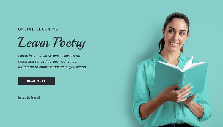 Learn poetry One Page Template