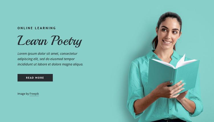 Learn poetry Website Mockup