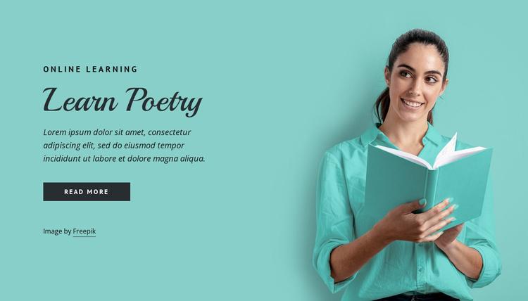 Learn poetry Website Template