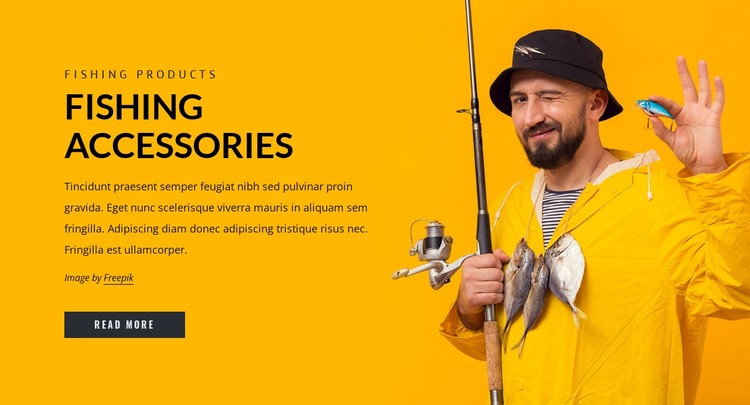 Fishing accesories CSS Template