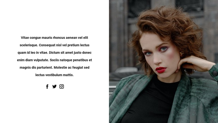 Look at images on social networks CSS Template