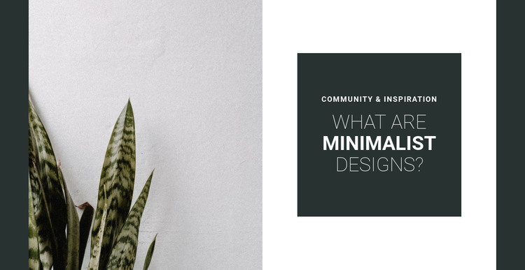 Minimalism in colors HTML Template