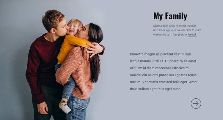My family HTML Template