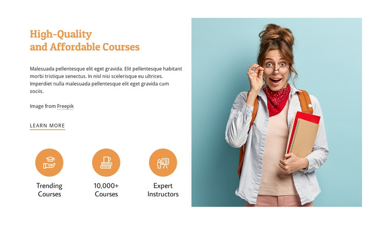 Affordable courses HTML Template