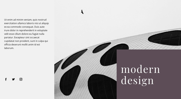 Alien forms in architecture HTML Template