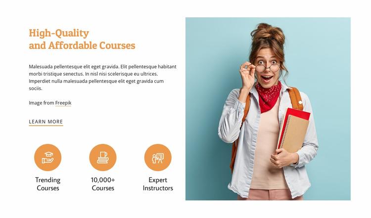 Affordable courses Html Website Builder