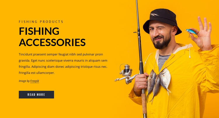 Fishing accesories Html Website Builder