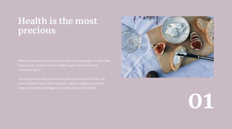 100 recipes for breakfast HTML5 Template