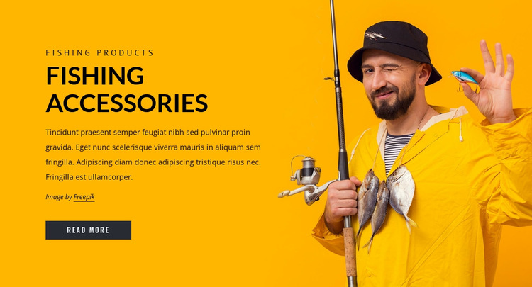 Fishing accesories HTML5 Template