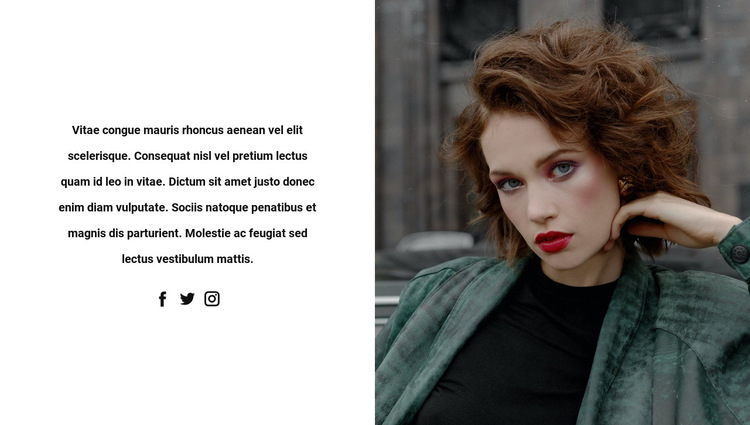 Look at images on social networks HTML5 Template
