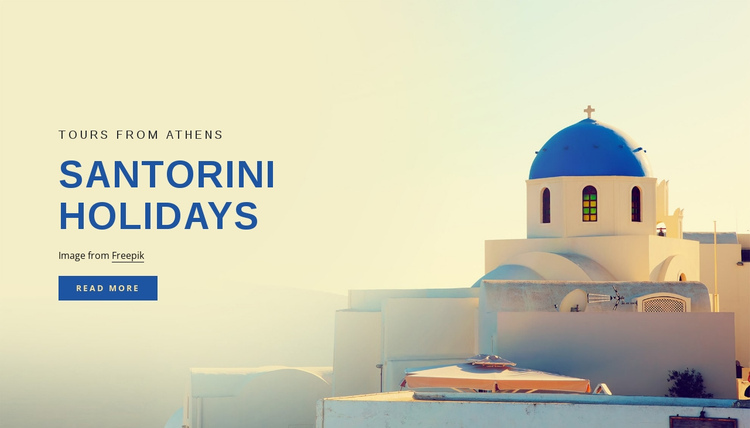 Santorini holidays One Page Template