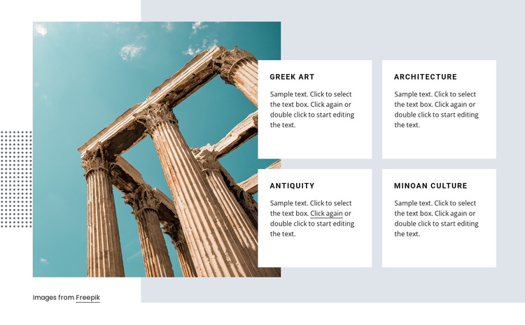 Greek art course One Page Template