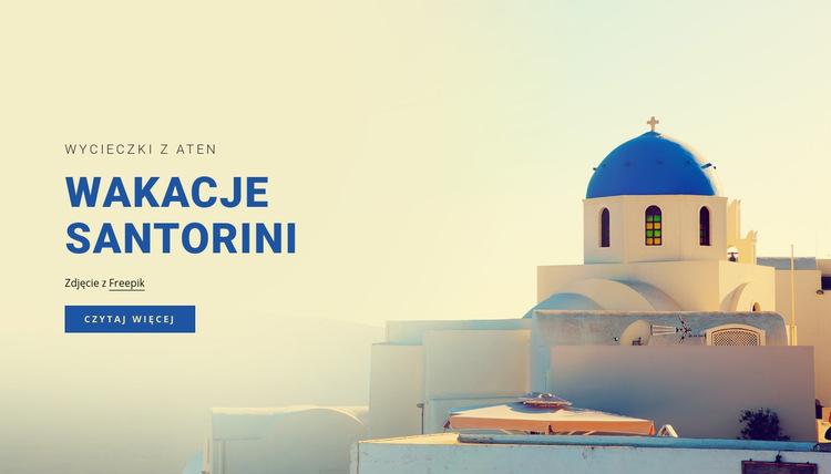 Wakacje na Santorini Szablon witryny sieci Web