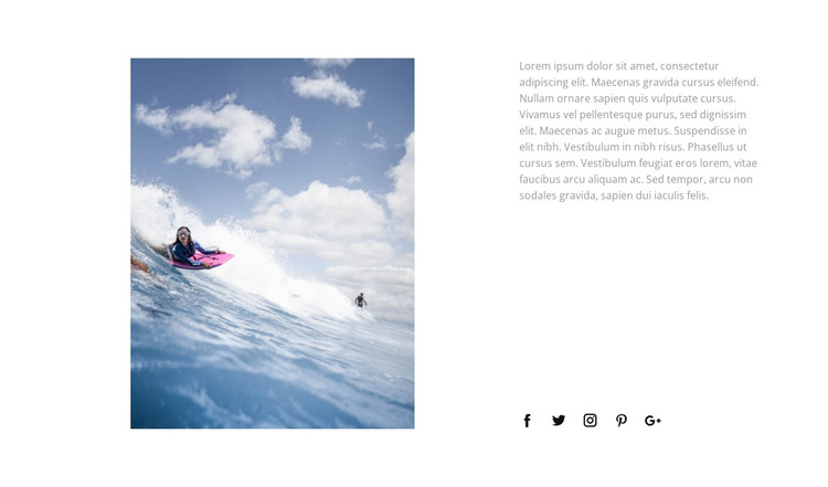 Conquer the waves Web Design