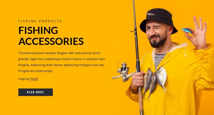 Fishing accesories Web Page Design