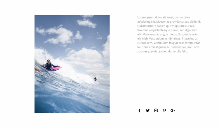 Conquer the waves WordPress Website Builder