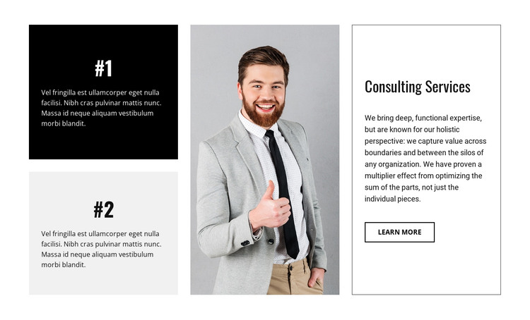 Business consultancy firm HTML Template