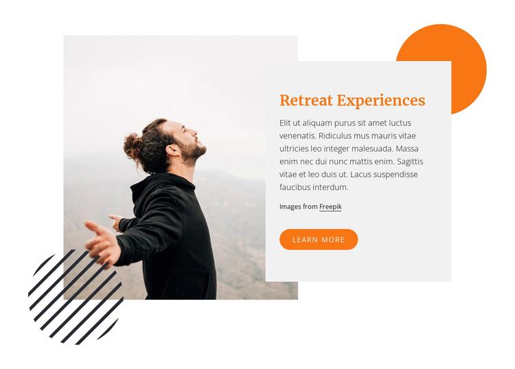 Retreat experience Joomla Page Builder