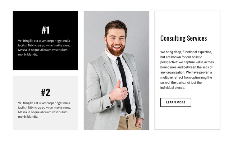 Business consultancy firm One Page Template