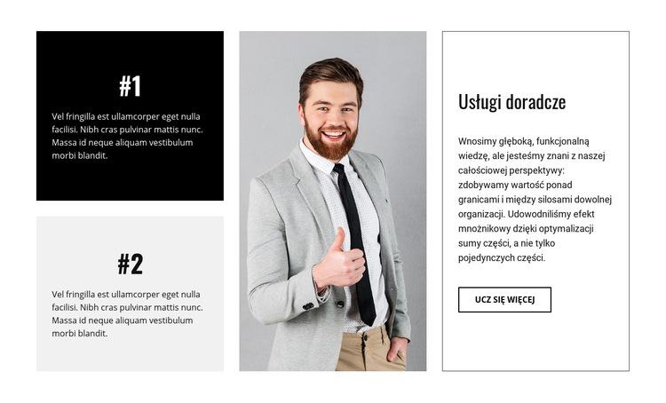 Firma doradztwa biznesowego Szablon witryny sieci Web