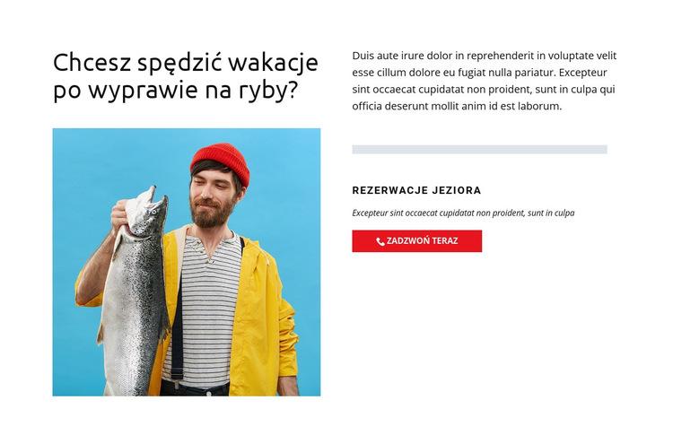 Jezioro rybackie Szablon witryny sieci Web