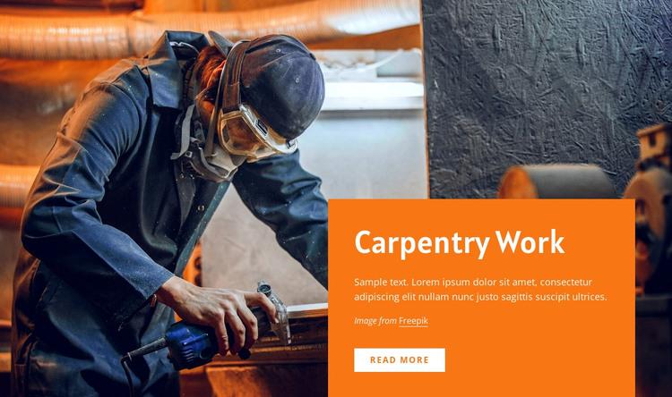 Carpentry work Web Design