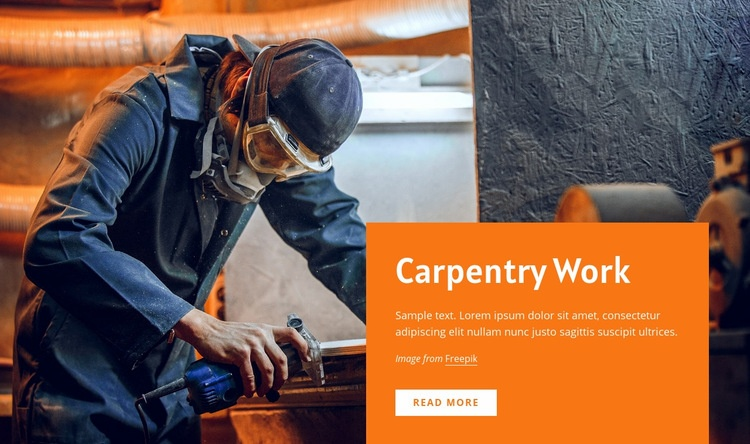 Carpentry work Web Page Design