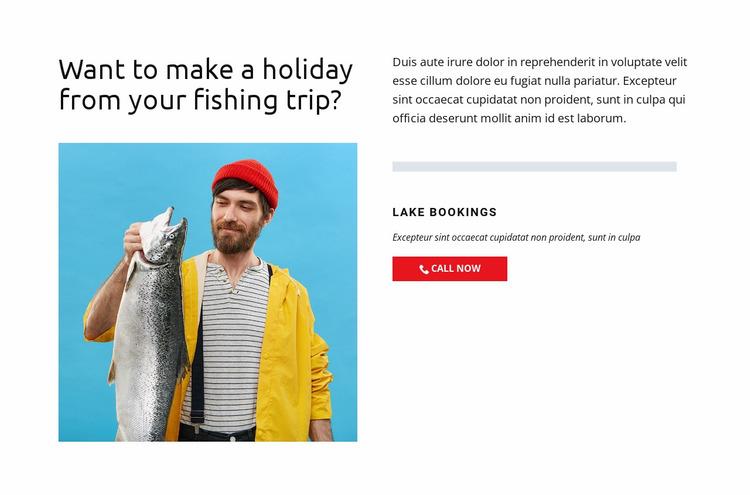 Fishing Lake Website Mockup