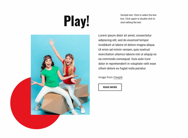 Learn and play Website Mockup