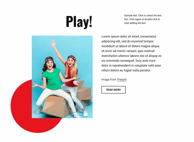 Learn and play Website Template