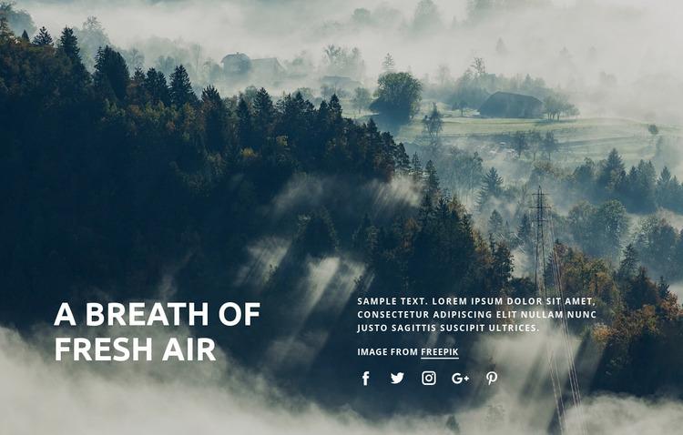 Breath of fresh air Website Mockup