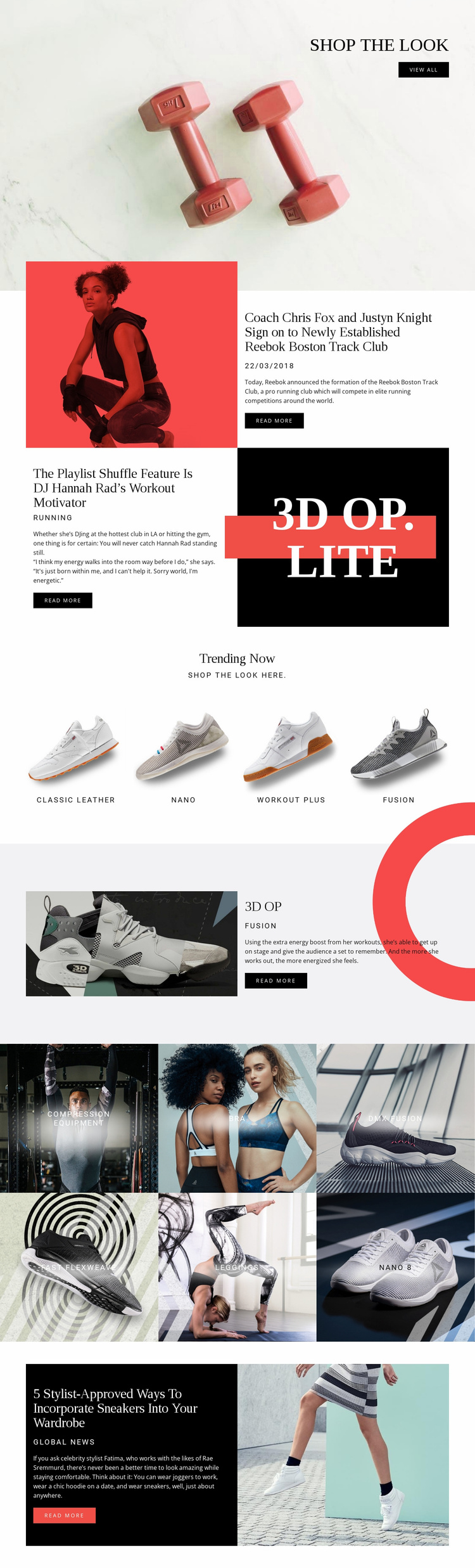 Reebok Website Template