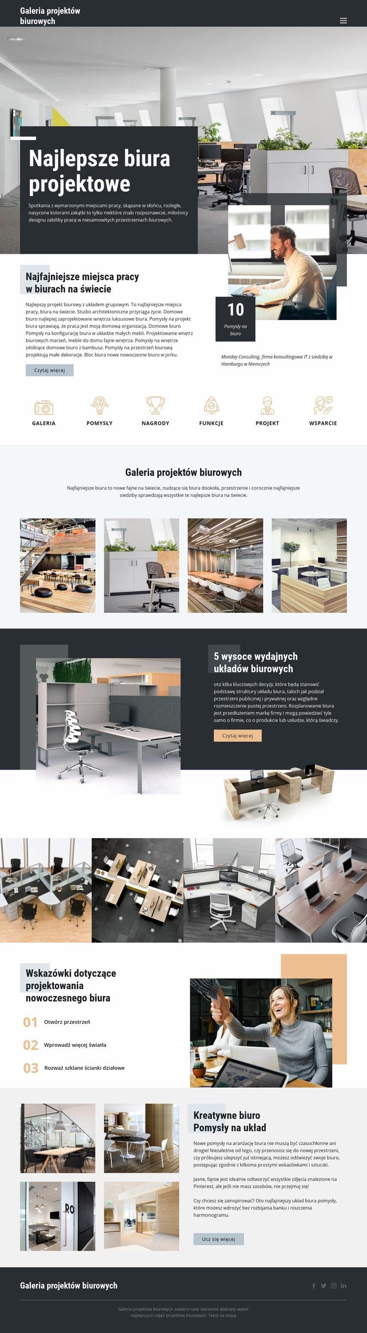 Najlepsze biura projektowe Szablon witryny sieci Web